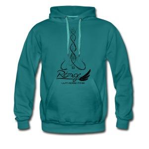 Logo Rémige art Fantasy noir - Sweat-shirt à capuche Premium pour hommes