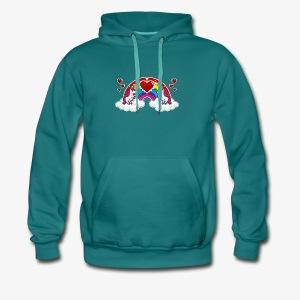 Rainbow and Unicorn - Sweat-shirt à capuche Premium pour hommes