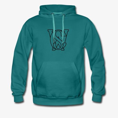 SCW Logo schwarzer rand only schwarzer Rand only - Männer Premium Hoodie