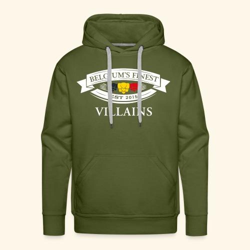 BelgiumFinestEst2015Villains white - Men's Premium Hoodie