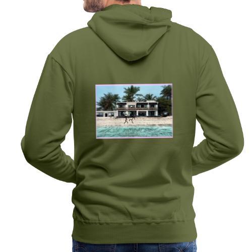 sadBoy Stick man Beach - Mannen Premium hoodie