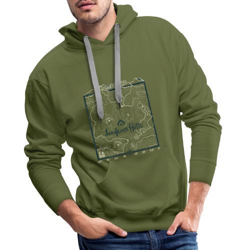 Laufener Hütte im Tennengebirge - Green - Men's Premium Hoodie