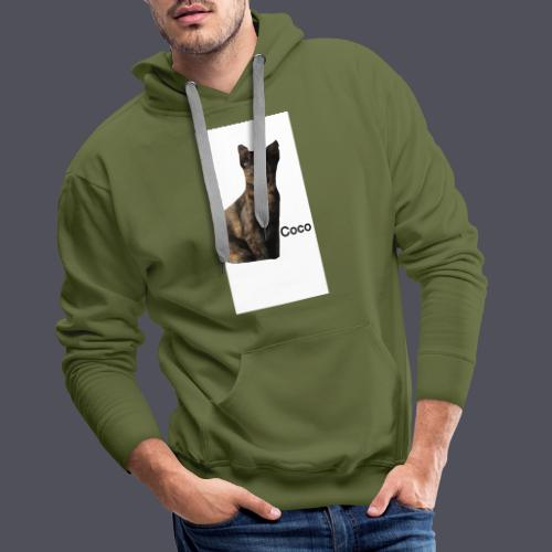Coco the Kitten and inspirational quote Combined - Men's Premium Hoodie