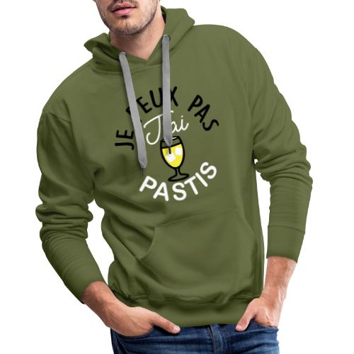 JE PEUX PAS J AI PASTIS COTÉ COEUR - Sweat-shirt à capuche Premium pour hommes