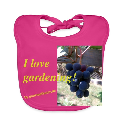 Weintraube - I love gardening - Baby Bio-Lätzchen