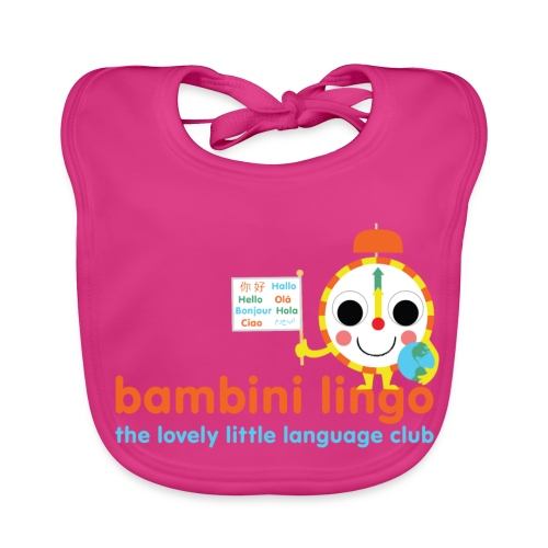 bambini lingo - the lovely little language club - Baby Organic Bib