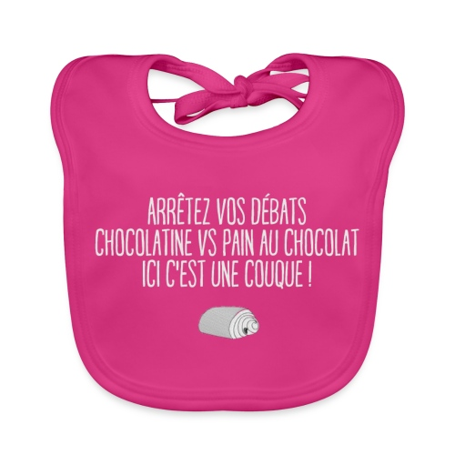 couque au chocolat - Bavoir bio Bébé