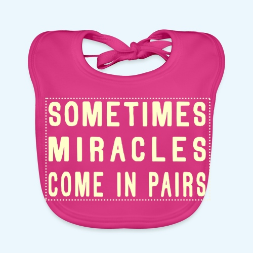 Sometimes Miracles Come In Pairs (Modern) - Bio-slabbetje voor baby's