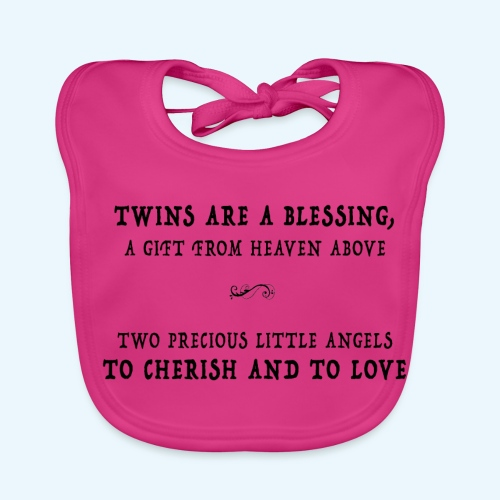 Twins are a blessing - Bio-slabbetje voor baby's