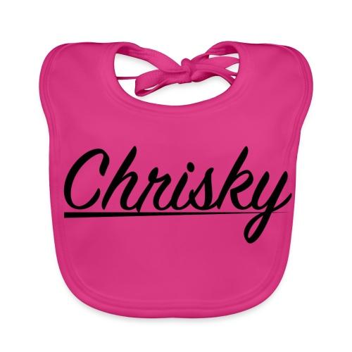 Chrisky Logo Schwarz - Baby Bio-Lätzchen