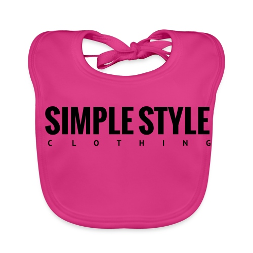 Simple Style Clothing Small Logo - Baby Bio-Lätzchen