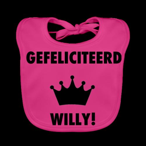 Gefelicteerd Willy - Bio-slabbetje voor baby's