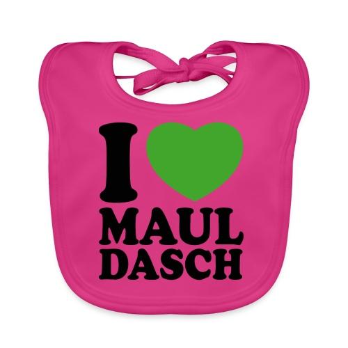 I love Mauldasch - klassik - Baby Bio-Lätzchen