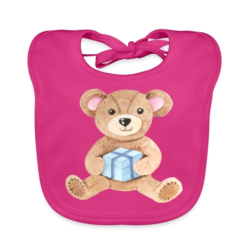 Baby Bib Teddy bear with gift - Baby Organic Bib