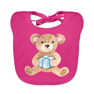 Baby Bib Teddy bear with gift - Baby Organic Bib