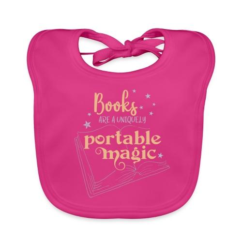 0029 books | Book | Reading | Reader | magic - Baby Organic Bib