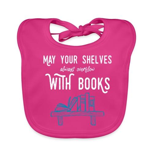 0032 bookshelf | Stack of books | Wish | reader - Baby Organic Bib