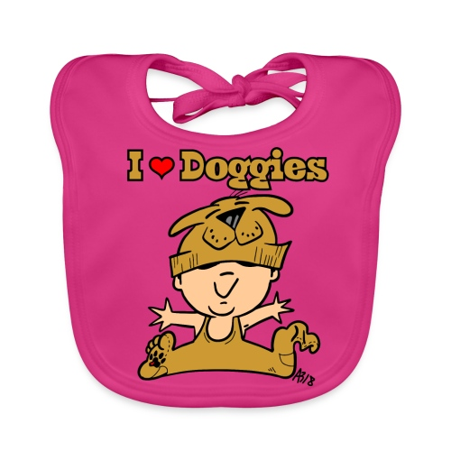 baby i love doggies color - Bio-slabbetje voor baby's