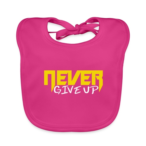 Never give up - Baby Bio-Lätzchen