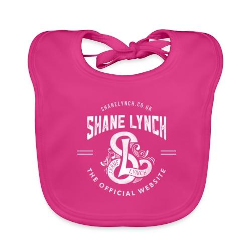 White - Shane Lynch Logo - Baby Organic Bib