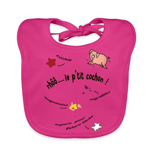 Rhoo le ptit cochon ! (version pour fond blanc) - Bavoir bio Bébé