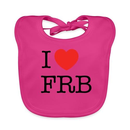 I Love FRB - Børnekollektion - Baby økologisk hagesmæk