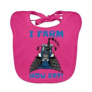 I farm you eat blauw - Bio-slabbetje voor baby's