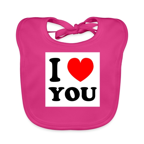 Sweater met i love you - Bio-slabbetje voor baby's