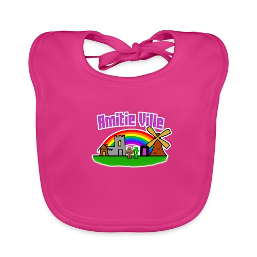 Amitie Ville Logo Shirt - Baby Organic Bib