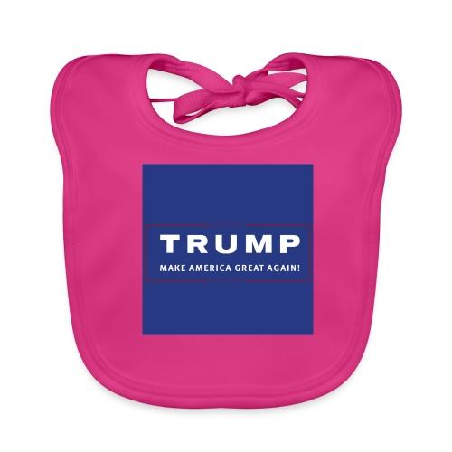 Donald Trump - solidair met de USA - Bio-slabbetje voor baby's