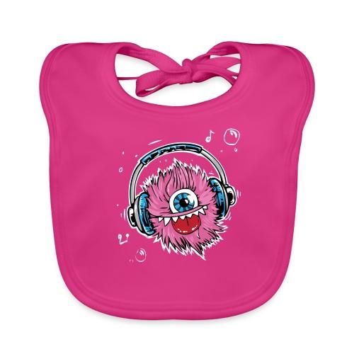 pink monster - Baby Bio-Lätzchen