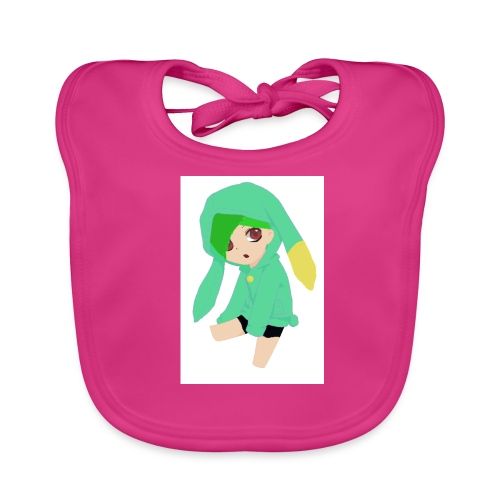 Green haired SkaiLaPie pillow - Baby Organic Bib
