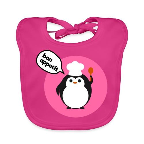 Chef Penguin Pink - Baby Organic Bib