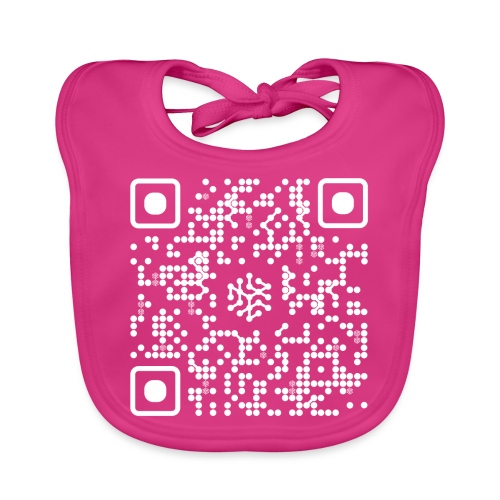 QR Safenetforum White - Baby Organic Bib