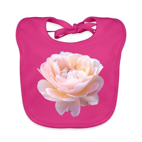 A pink flower - Baby Organic Bib