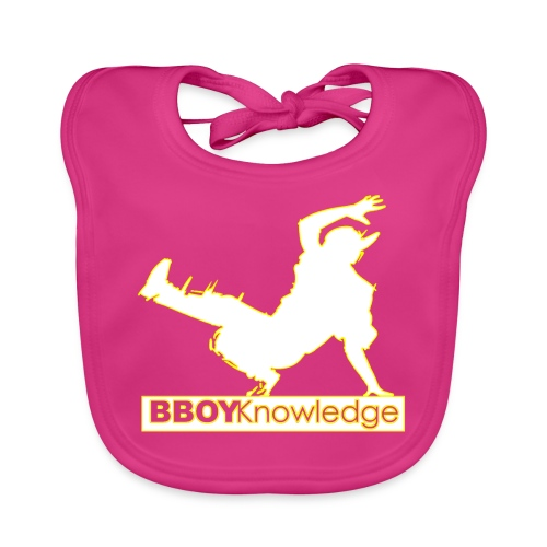 Bboy Knowledge Logo Yellow&White - Bavoir bio Bébé