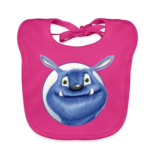 blaues Monster - Baby Bio-Lätzchen
