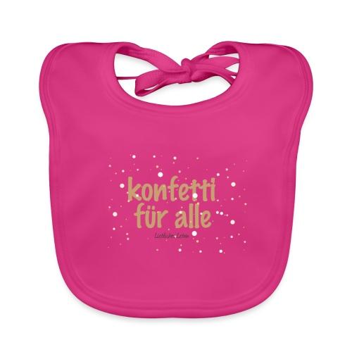 Konfetti für alle! - Baby Bio-Lätzchen