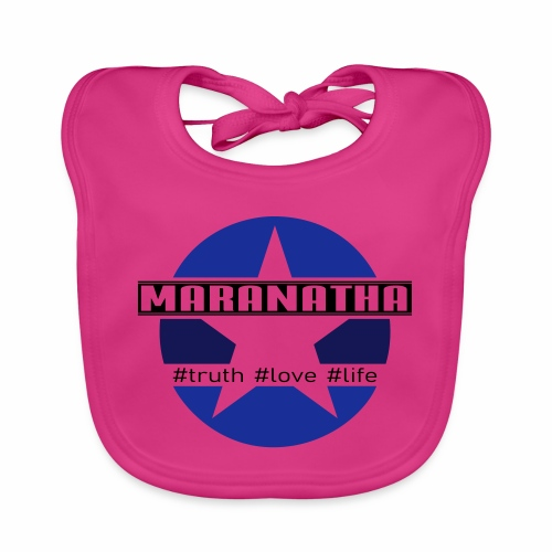 maranatha blau-braun - Baby Bio-Lätzchen