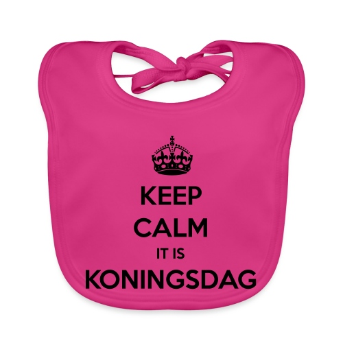 KEEP CALM IT IS KONINGSDAG - Bio-slabbetje voor baby's