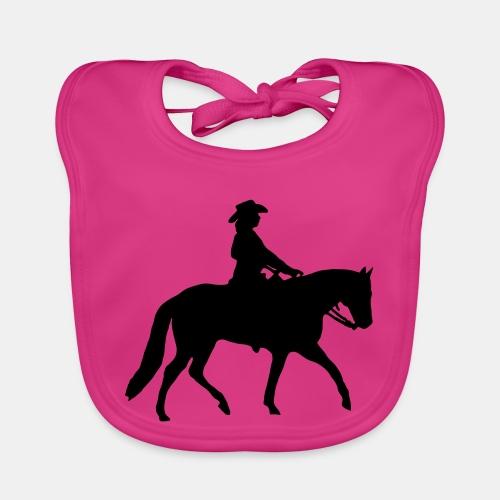 Ranch Riding Silhouette Westernreiterin - Baby Bio-Lätzchen
