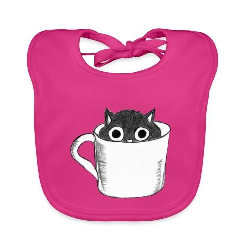 Katze in Tasse - Baby Bio-Lätzchen