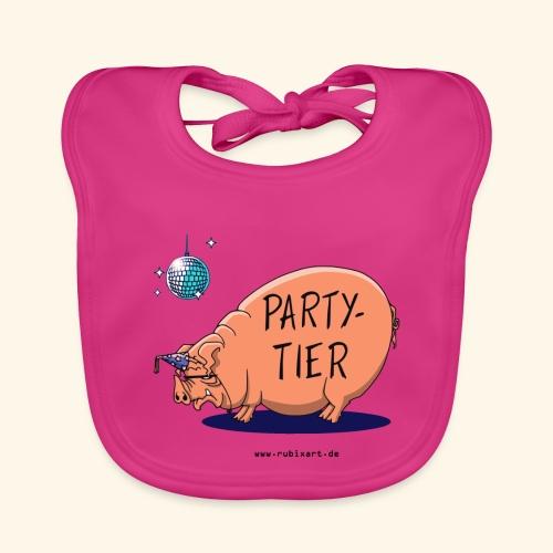 Partytier Schwein Fete Feier Party Sau - Baby Bio-Lätzchen