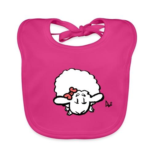 Baby Lamm (rosa) - Ekologisk babyhaklapp