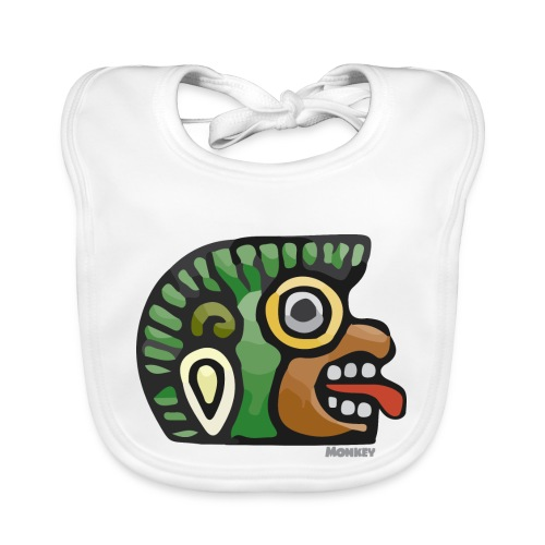 Aztec Icon Monkey - Organic Baby Bibs