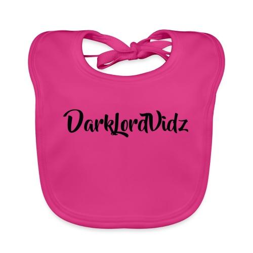 DarklordVidz Black Logo - Baby Organic Bib