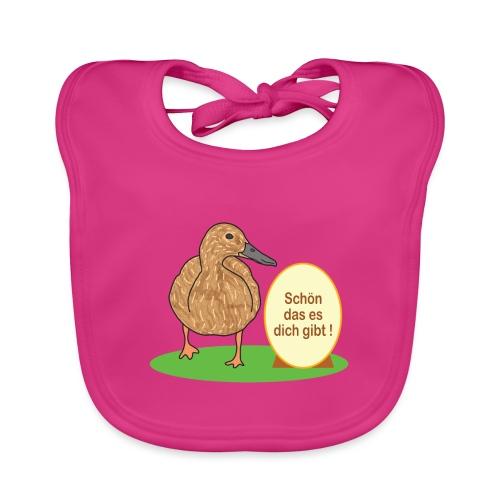 Ente mit Ei - Baby Bio-Lätzchen