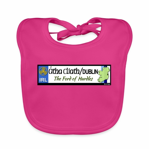 CO. DUBLIN, IRELAND: licence plate tag style decal - Organic Baby Bibs