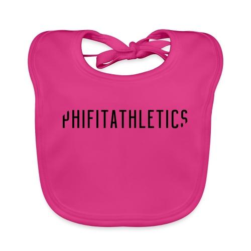 Phifit Athletics Hoodie Wide Logo Black - Bio-slabbetje voor baby's
