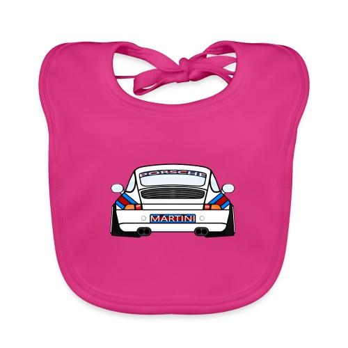 White Sports Car Maritini Livery - Baby Organic Bib
